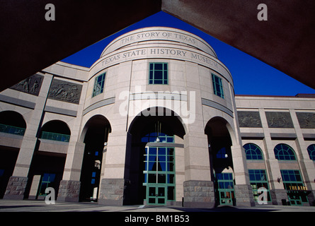Facade of a museum, Bob Bullock Texas State History Museum, Austin, Texas, USA - Stock Photo