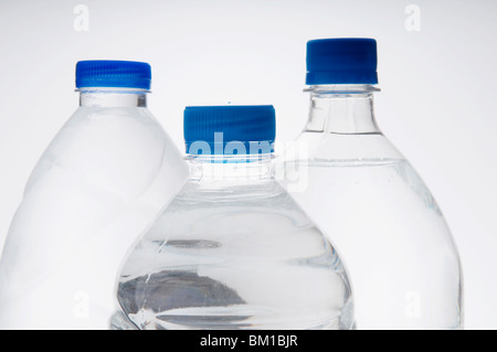 Close-up of three bottles of water - Stock Photo
