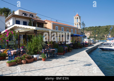 Vathi, Meganisi, Ionian Islands, Greek Islands, Greece, Europe - Stock Photo