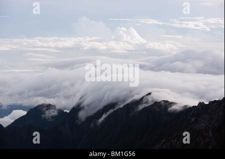 Kinabalu National Park, location of Malaysia's highest mountain at 4095m, Sabah, Borneo, Malaysia, Southeast Asia, - Stock Photo