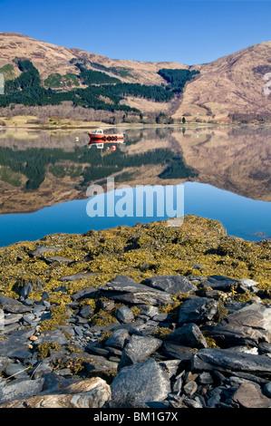 Reflections in Loch Leven, Near Ballachulish, Glencoe, Scottish Highlands, Scotland, UK