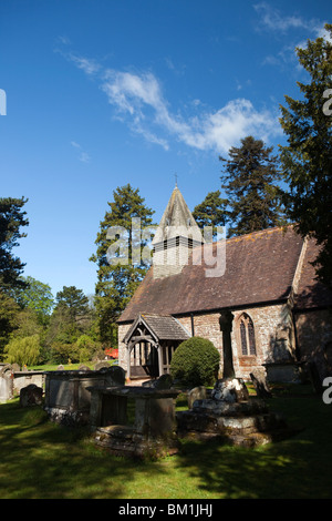 UK, England, Herefordshire, Putley village church - Stock Photo