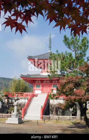Autumn colours at Daikaku ji (Daikakuji) Temple, dating from 876, Sagano area, Kyoto, Japan, Asia