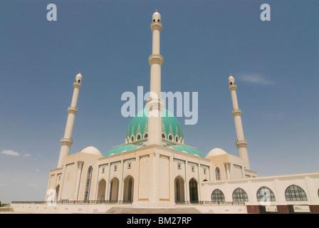 Saparmurat Haji Mosque, Geok Tepe, Turkmenistan, Central Asia, Asia - Stock Photo
