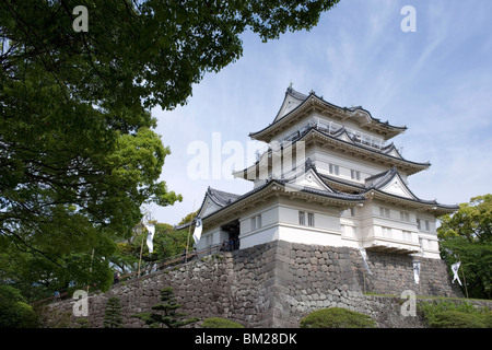 Odawara Castle, a Hojo clan stronghold until destroyed then rebuilt in the 1960s, Japan - Stock Photo