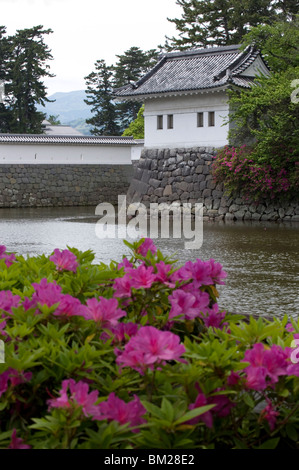 Odawara Castle, a Hojo clan stronghold until destroyed, rebuilt in the 1960s, Japan - Stock Photo