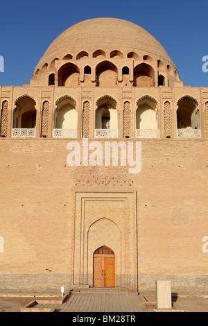 Mausoleum of Sultan Ahmad Sanjar at the ancient silk road city of Merv ( Mary ) in Turkmenistan. - Stock Photo