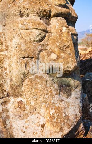 Detail, Copan Ruins, UNESCO World Heritage Site, Honduras - Stock Photo