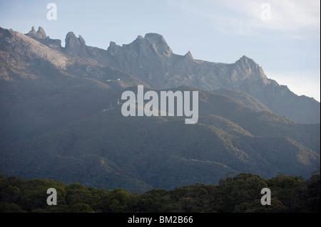 Kinabalu National Park, Malaysias highest mountain 4095m, Sabah, Borneo, Malaysia, Southeast Asia - Stock Photo