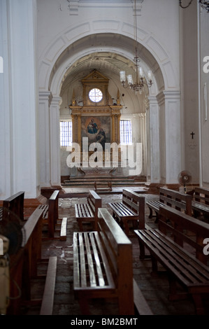 The Interior of Se Cathedral in Old Goa, India - Stock Photo