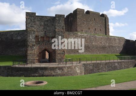 The inner fortress, Carlisle Castle, Cumbria, UK - Stock Photo
