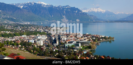 The City of Vevey, Switzerland - Stock Photo