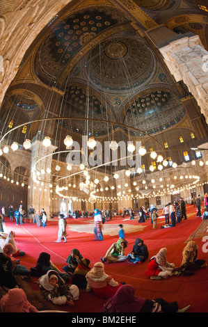 Mosque of Muhammad Ali Pasha (Alabaster Mosque), The Citadel, Cairo, Egypt - Stock Photo