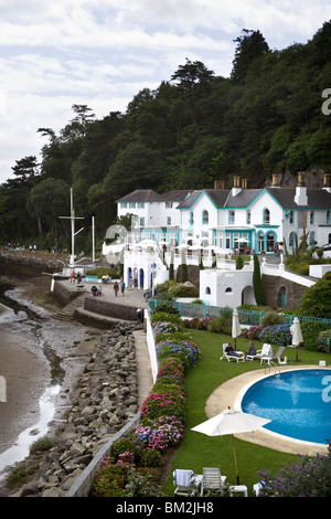 Portmeirion Village Gwynedd North Wales UK - Stock Photo