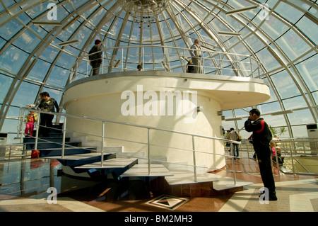Inside of the Bayterek Tower, landmark of Astana, Astana, Kazakhstan - Stock Photo