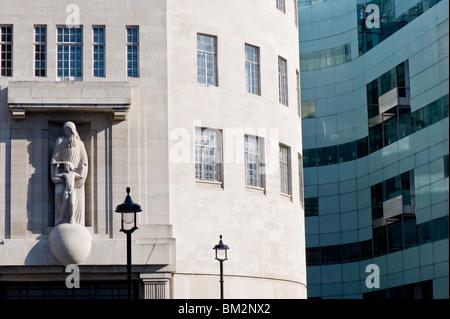 BBC Broadcasting House, Langham Place, London, United Kingdom - Stock Photo