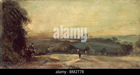 Autumn Sunset by John Constable, (1776-1837) - Stock Photo