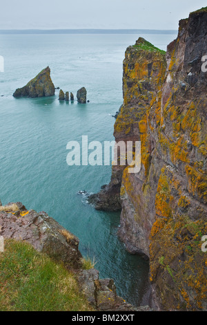 View of Bay of Fundy at the end of Cape Split Trail - Cape Split, Nova Scotia, Canada - Stock Photo