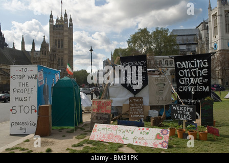 Democracy Village Parliament Square London Uk 2010s HOMER SYKES - Stock Photo