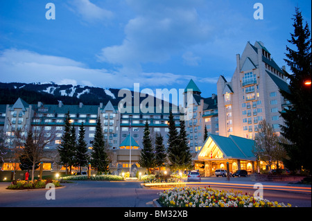 Fairmont Chateau Whistler hotel in Whistler, Canada - Stock Photo