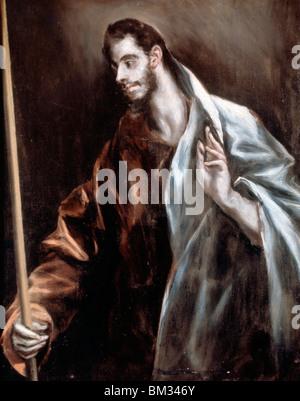 Saint Thomas by El Greco, (1541-1614) - Stock Photo