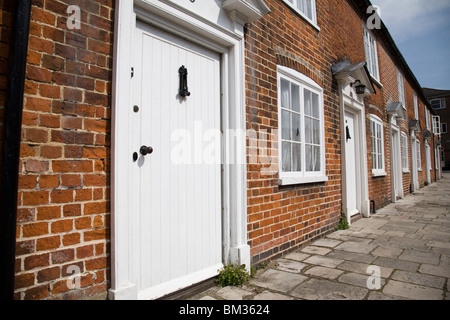A row of terraced Geoargian houses, Chichester, West Sussex, England. - Stock Photo
