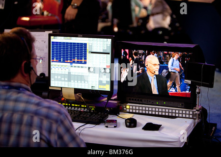 Editing with James Carville - Stock Photo