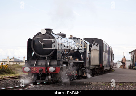 Third scale mountain class steam locomotive 'Samson' at Dungerness Station on the Romney, Hythe, and Dymchurch Railway, - Stock Photo