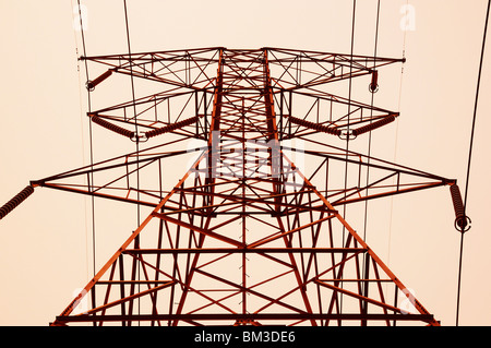 High Voltage Power Tower - Stock Photo