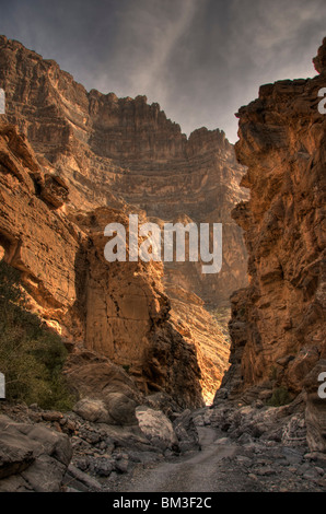 Wadi Ghul Al Dakhiliyah region  Oman - Stock Photo