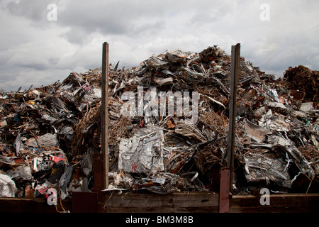 Metal waste recycling plant in North London. UK - Stock Photo