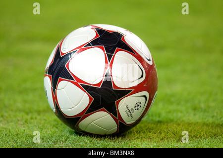 Champions League official ball, Sanchez Pizjuan stadium, Seville, Spain, 16 September 2009 - Stock Photo