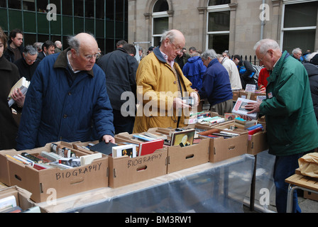 Customers at the annual Christian Aid Book Sale at St Andrew's and St George's West Church on George Street, Edinburgh, - Stock Photo