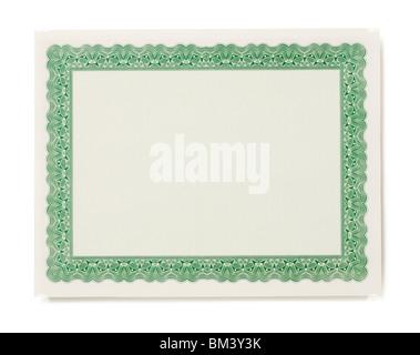 Blank Certificate - Stock Photo