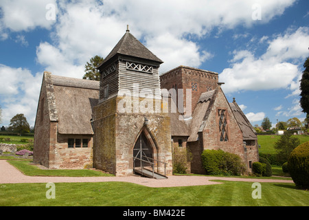 UK, Herefordshire, Brockhampton, All Saints Arts and Crafts Church, designed by William Lethaby - Stock Photo