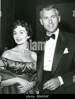 JEAN SIMMONS - UK film actress and husband Stewart Granger about 1962 - Stock Photo