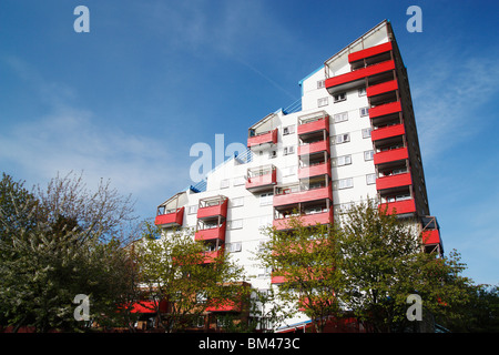 Tom Collins house, part of The Byker wall estate in Byker, Newcastle upon Tyne, England, UK - Stock Photo
