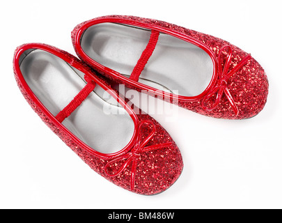 Red ruby slippers shoes - Stock Photo