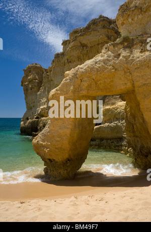 Portugal, The Algarve, Praia De Sao Rafael, Albufeira - Stock Photo