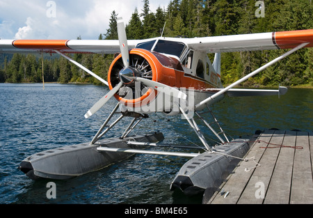 De Havilland Beaver DHC-2 Bush Plane near Ketchikan, Alaska, USA - Stock Photo
