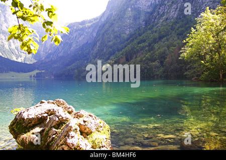 Alps, MOUNTAINS, Berchtesgaden, Königssee - Stock Photo