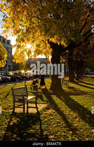 Late afternoon on the Dartmouth College Green in Hanover, New Hampshire. - Stock Photo