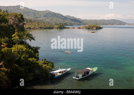 View of Lembeh Strait Resort, North Sulawesi, Indonesia - Stock Photo