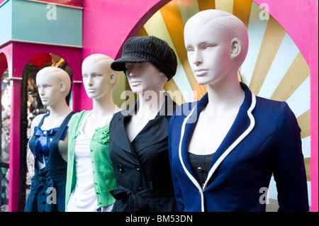Trendy mannequins in Camden Lock market, London, England, Britain, UK - Stock Photo