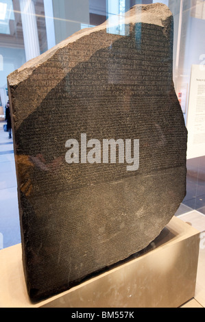 Rosetta Stone at the British Museum, London, England, Britain, UK - Stock Photo