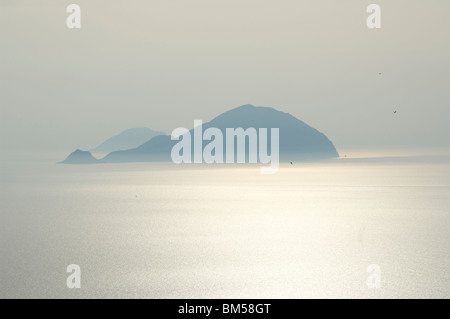 The islands of Alicudi and Filicudi in the Aeolian Islands - Stock Photo