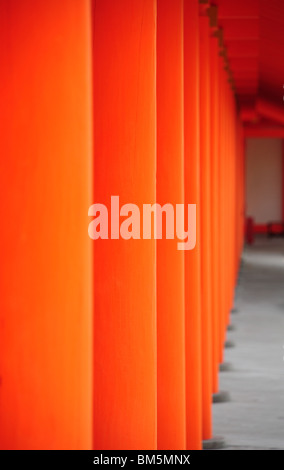 Part of temple in Japan, Kyoto city - Stock Photo
