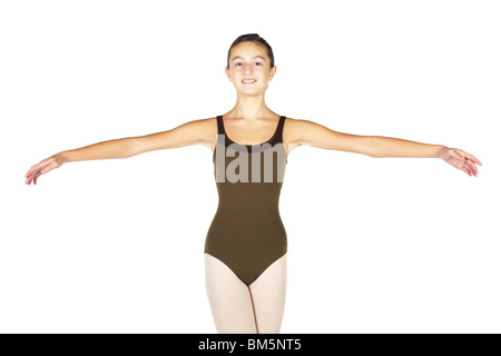 Young female ballet dancer showing various classic moves - Stock Photo
