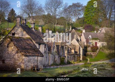 Arlington Row in the village of Bibury, Gloucestershire, England. - Stock Photo