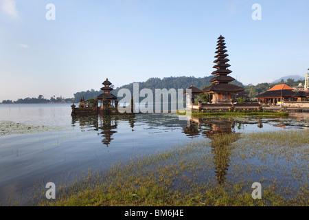 Pura Ulun Danu Bratan, Hindu-Buddhist temple in Candykuning, Bali, Indonesia - Stock Photo
